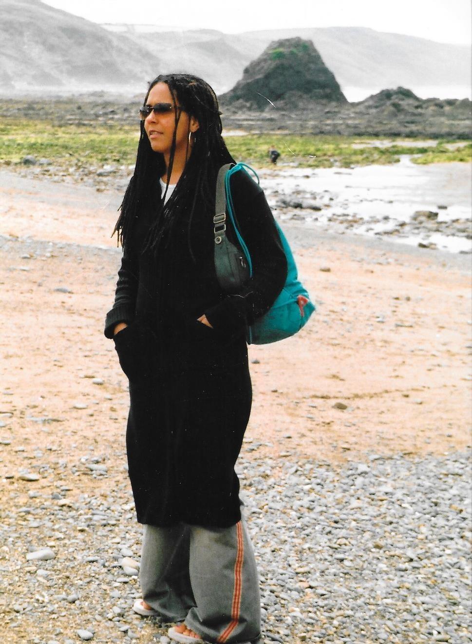 Louisa on Devon beach